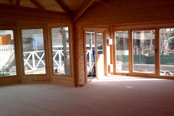 Modelo vitoria 68 m2 34 m2 terraza en casas de madera - Interior casas de madera ...