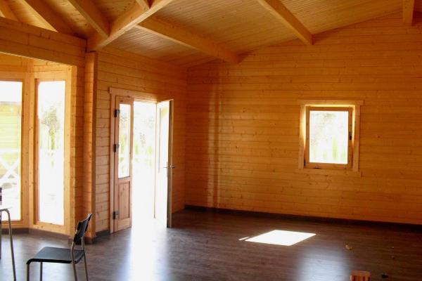 Kit vitoria 68 m2 34 m2 terraza en casas de madera en - Interior casas de madera ...