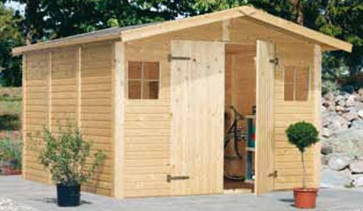 Casetas de madera christa superficie 2 73 x 2 80 en oferta for Casetas desmontables precios