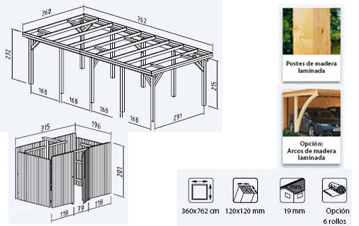 Casas prefabricadas madera garajes de madera segunda mano for Casetas de madera para jardin baratas segunda mano