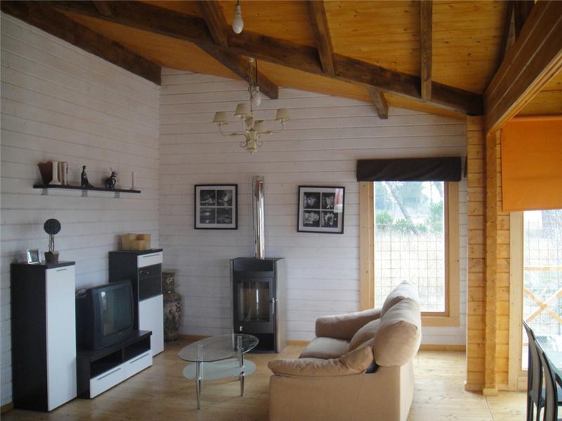 Modelo francia 74 m2 23 m2 terraza en casas de madera - Interior casas de madera ...