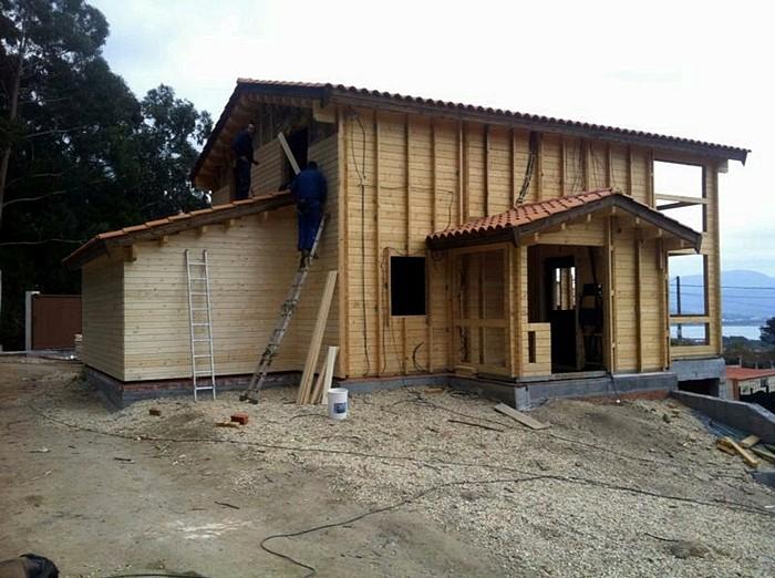 Proceso de montaje de elisa la guardia pontevedra - Casas prefabricadas pontevedra ...